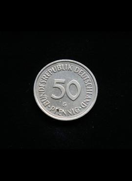 Vokietija, 50 pfenigų 1989m-G
