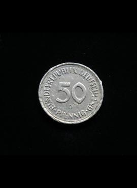 Vokietija, 50 pfenigų 1990m-D