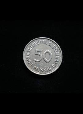 Vokietija, 50 pfenigų 1990m-F