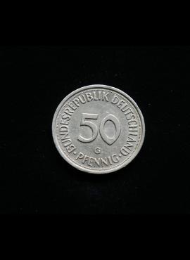 Vokietija, 50 pfenigų 1990m-G
