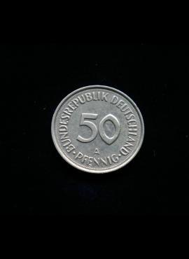 Vokietija, 50 pfenigų 1993m-A