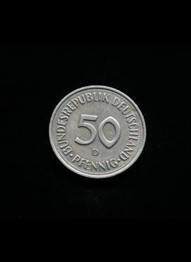 Vokietija, 50 pfenigų 1993m-D