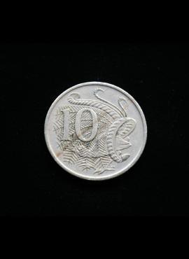 Australija, 10 centų 1966m