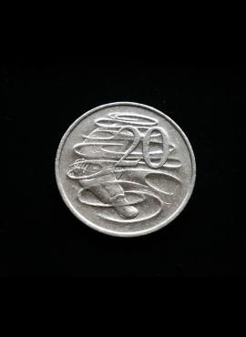 Australija, 20 centų 1980m