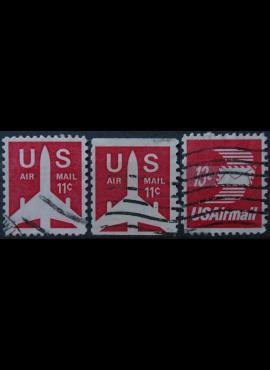 JAV, oro paštas ScNr C78-C79, C82 Used(O)