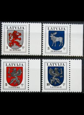 Latvija, pilna serija MiNr 371I-374I MNH**