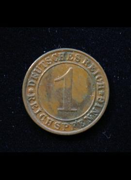 Veimaro Respublika, 1 reichspfenigis 1935m-G