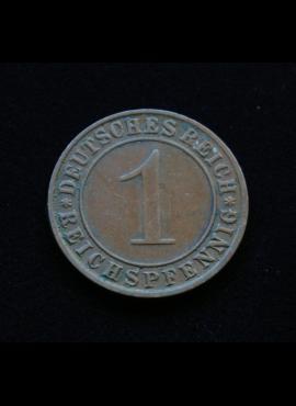 Veimaro Respublika, 1 reichspfenigis 1934m-D