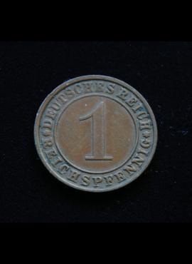 Veimaro Respublika, 1 reichspfenigis 1934m-E