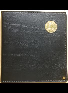 Albumas odiniais viršeliais 60-čiai monetų
