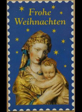Vokiškas Kalėdinis lankstinukas su JAV pašto ženklu