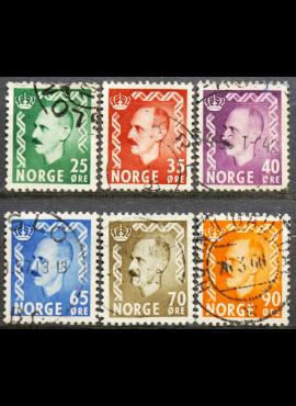 Norvegija ScNr 345-347, 349-350, 352 Used(O)