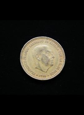 Ispanija, 1 peseta, 1966m *73
