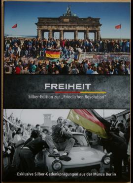 """Dėklas Vokietijos """"Taikiosios revoliucijos"""" atminimo medalių kolekcijai"""