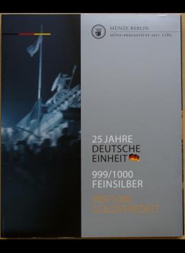 Dėklas Vokietijos 25 metų suvienijimo atminimo medalių kolekcijai