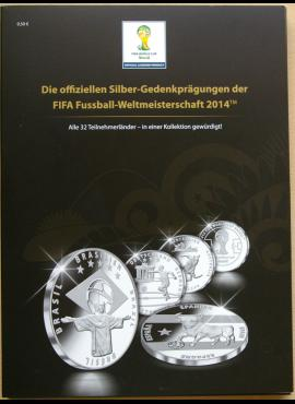 Dėklas 2014 metų Pasaulio futbolo čempionato Brazilijoje sidabro medalių kolekcijai