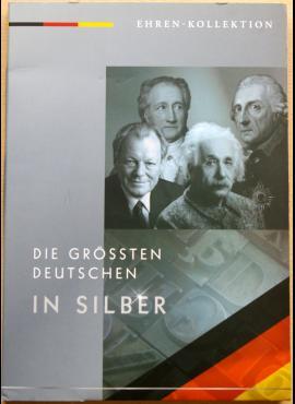 """Dėklas """"Vokietijos didingieji"""", skirtas sidabrinių medalių kolekcijai"""