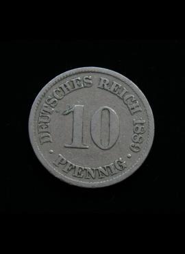 Vokietijos Imperija, 10 pfenigių 1889m-A