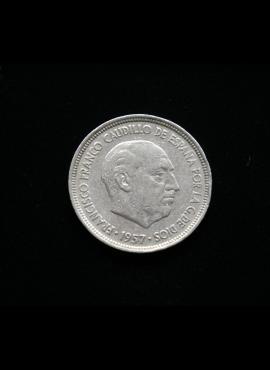 Ispanija, 5 pesetos 1957m *67