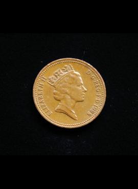 Didžioji Britanija, 1 pensas 1988m