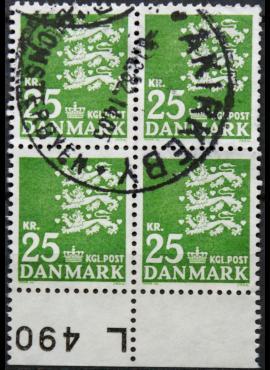 Danija, kvartblokis ScNr 400 Used(O)