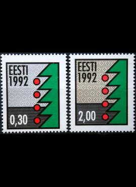 Estija, pilna serija MiNr 195-196 MNH**