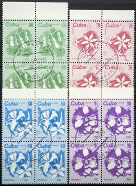 Kuba, pilna serija kvartblokiais ScNr 2659-2662 Used(O)
