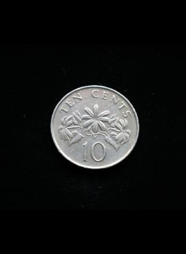 Singapūras, 10 centų 1989m