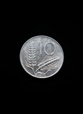 Italija, 10 lirų 1976m