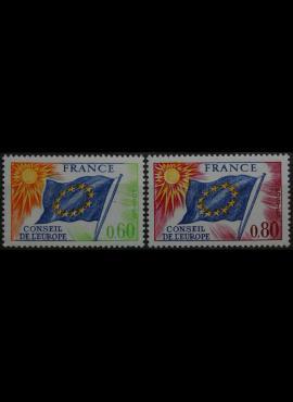 Prancūzija, Europos Taryba ScNr 1O16-1O17 MNH**