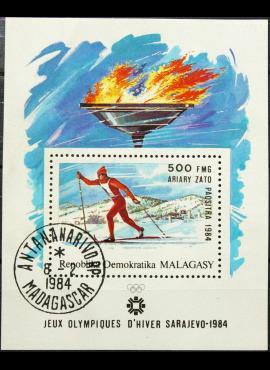 Madagaskaras, blokas ScNr 677 Used(O)