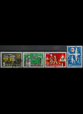 Šveicarija, pilna serija ScNr 355-358 Used(O)