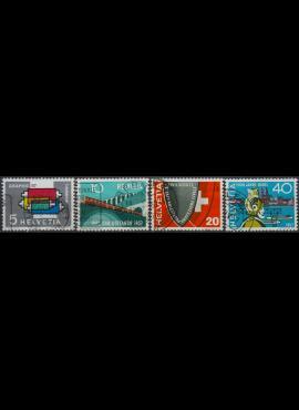 Šveicarija, pilna serija ScNr 359-362 Used(O)