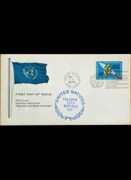 Jungtinės Tautos, 1973m pirmos dienos vokas G