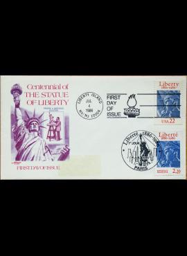 JAV ir Prancūzija, 1986m pirmos dienos vokas G