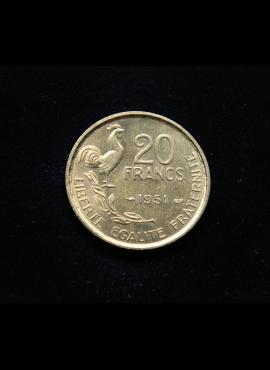 Prancūzija, 20 frankų 1951m