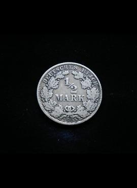 Vokietijos Reichas, SIDABRINĖS 1/2 markės 1905m-D