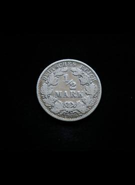 Vokietijos Reichas, SIDABRINĖS 1/2 markės 1906m-A
