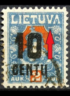 Tarpukario Lietuva, abartas MiNr 168 Used(O)