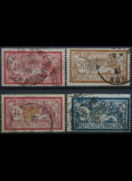 Prancūzija, ScNr 121, 123, 125, 130 Used(O)