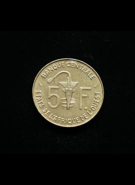Vakarų Afrika, 5 frankai 1976m