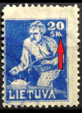 Tarpukario Lietuva, abartas MiNr 89 V44 Used(O)