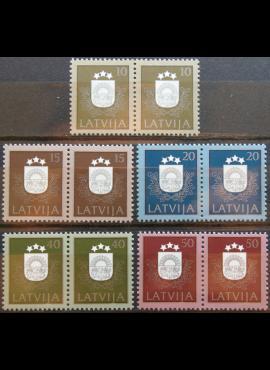Latvija, porelės MiNr 306-310 MNH** K