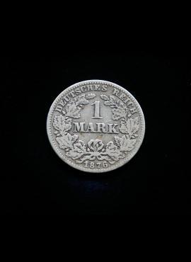 Vokietijos Imperija, SIDABRINĖ 1 markė 1876m-C
