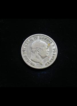 Prūsija, 1 pfenigas 1847m-A