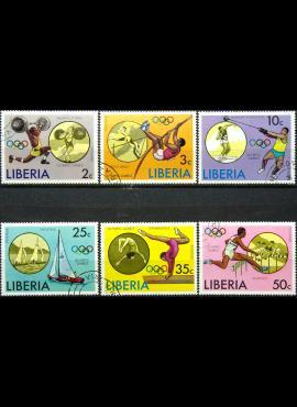 Liberija, pilna serija ScNr 736-741 Used(O)