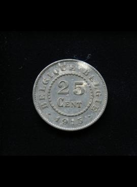 Belgija, 25 santimai 1915m