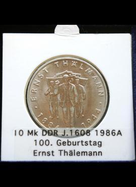 Vokietijos Demokratinė Respublika, 10 markių, 1986m-A