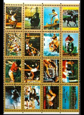 JAE, Ajman, pilna oro pašto serija, MiNr 2621-2636 (A) Used (O)