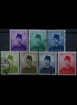 Indonezija, pilna 1951m serija Used(O)/MNH**